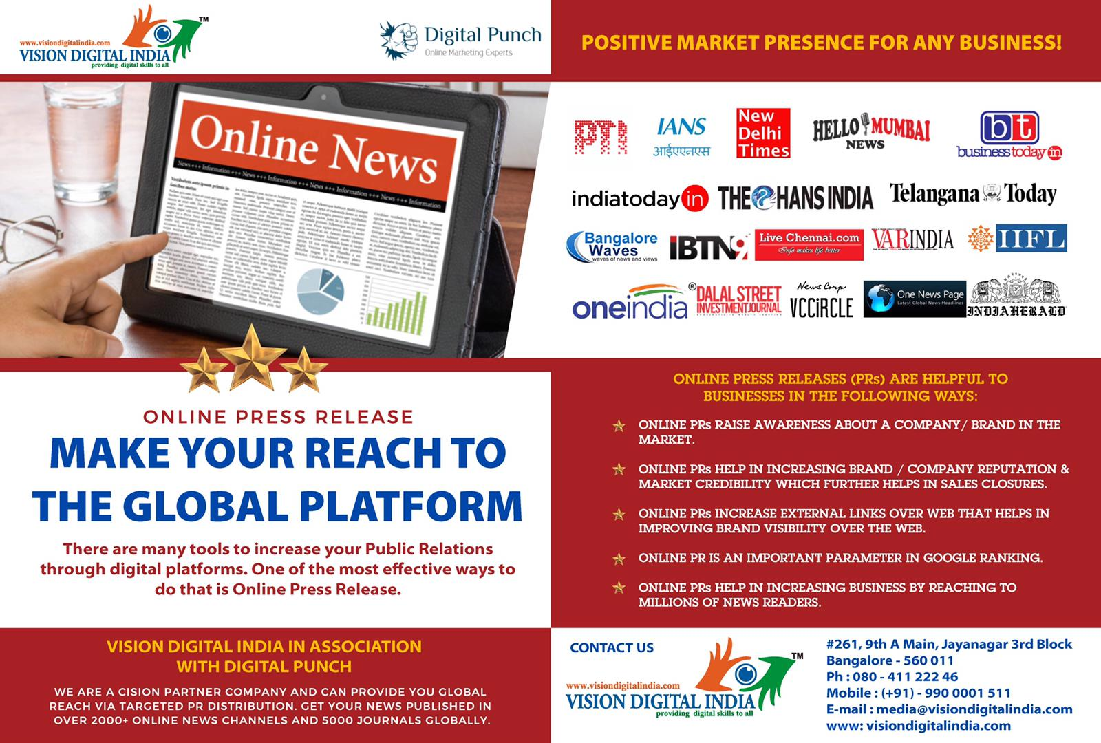 Vision Digital India - Bangalore | Provides the best Data